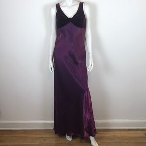 Vintage 90s purple velvet maxi formal prom dress